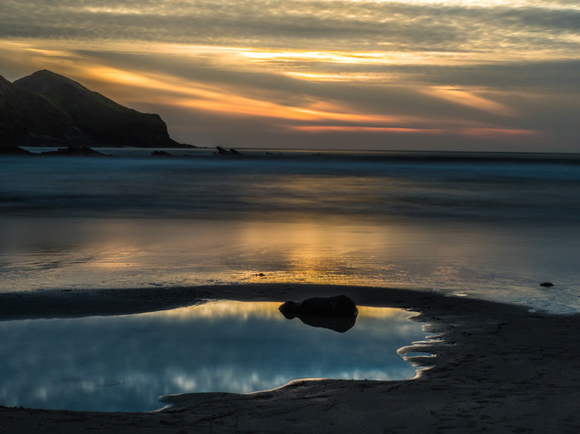 1st Crackington Haven Sunset by Derrick Holliday