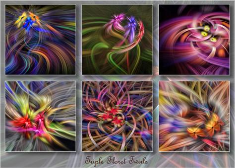 Triple Floret Twirls by John Perriam