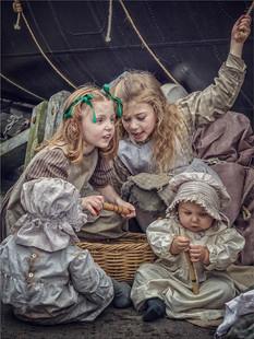 Ragged Victorian Children by Mo Martin
