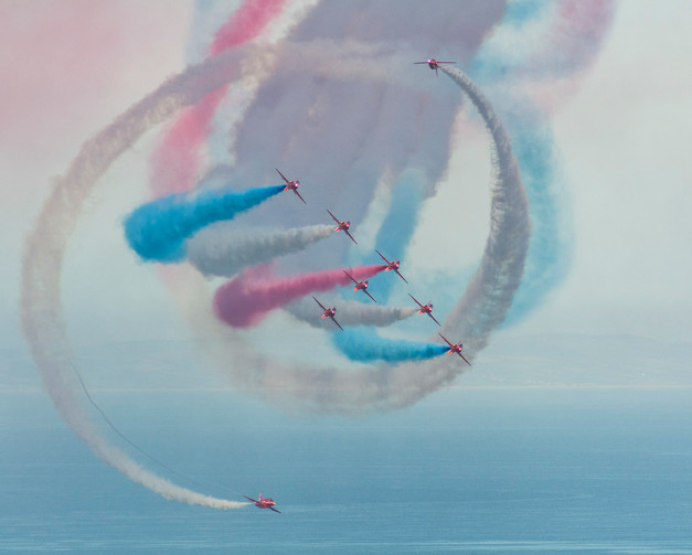 Red Arrows over Sidmouth