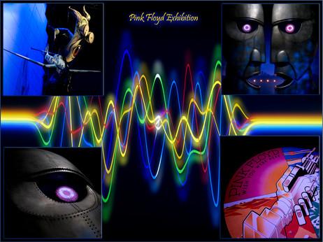 H/C Digitally Projected - Pink Floyd Exhibition by Elaine Bateman
