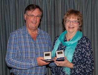 Ian Bateman receiving two medals