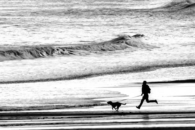 A Run on the Beach