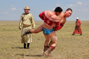 Naadam games by Nova Fisher