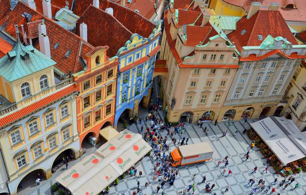 3rd Old Town Square Prague by Kristina Adamson