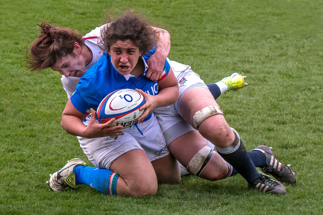 Rugby Tackle by Mo Martin