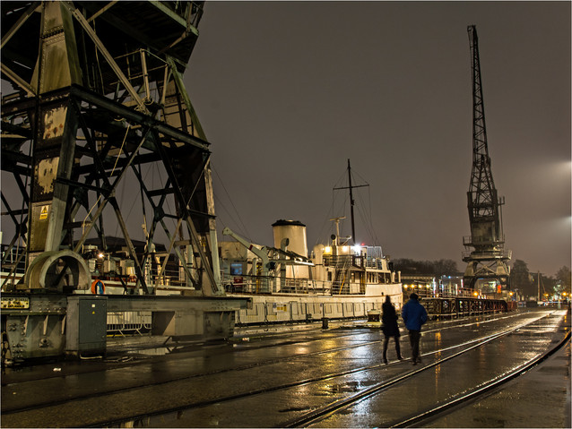 H/C  Bristol Docks by Maurice Chittock