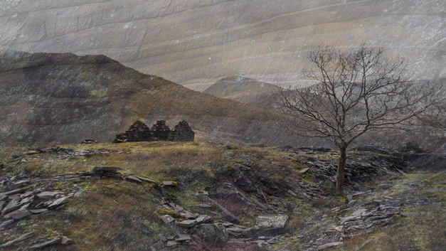 The colours of welsh slate by Elaine Bateman