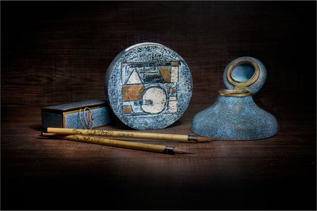 Study in Blue by Sheila Haycox