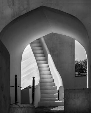 Jaipur stairway by Mike Gillan