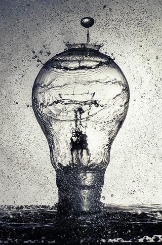 2nd Lightbulb Splash by Ian Bateman