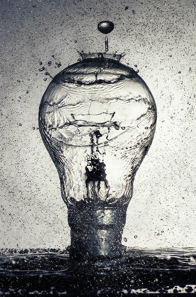 2nd Lightbulb Splash by Ian Bateman