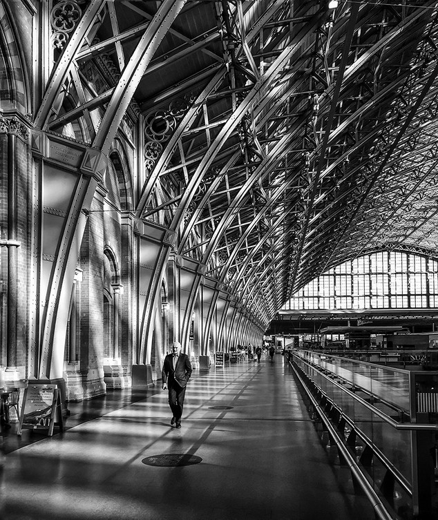 Early morning at St Pancras
