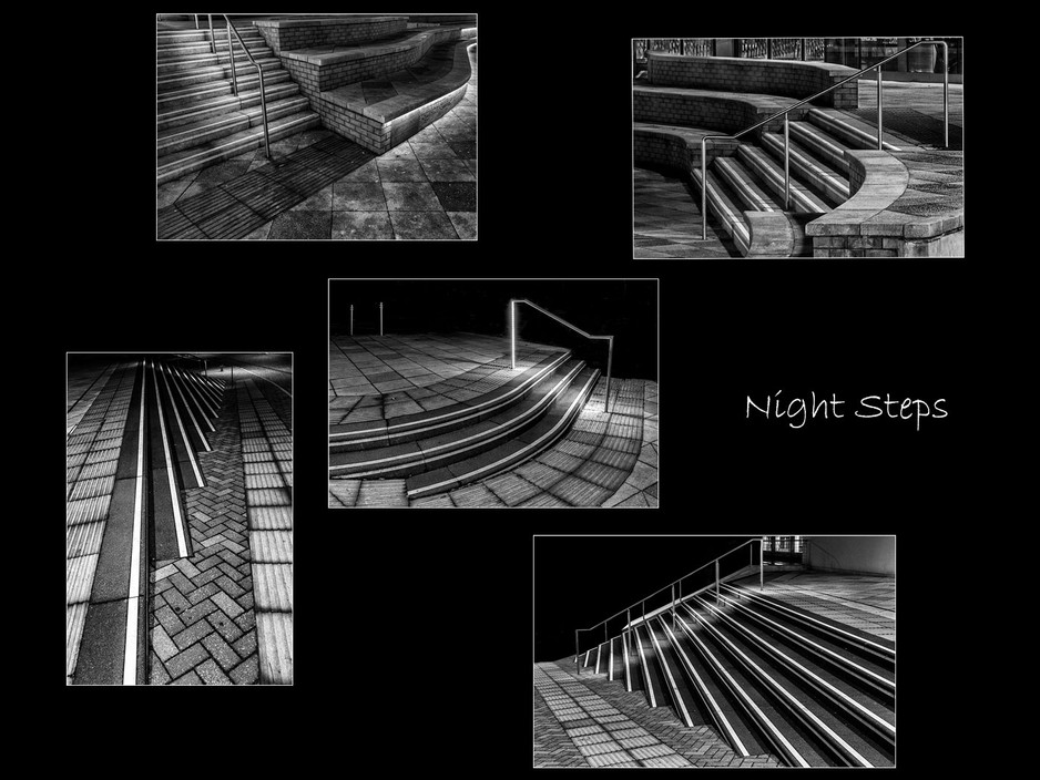 2nd Digitally Projected - Night Steps by Sheila Haycox