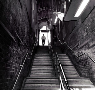 Station Stairway by Mike Gillan