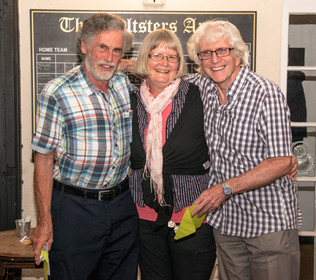 Christine with winners Tony Ovens and John Perriam