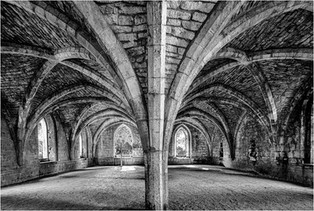 Fountains Abbey Undercroft by Christine Chittock