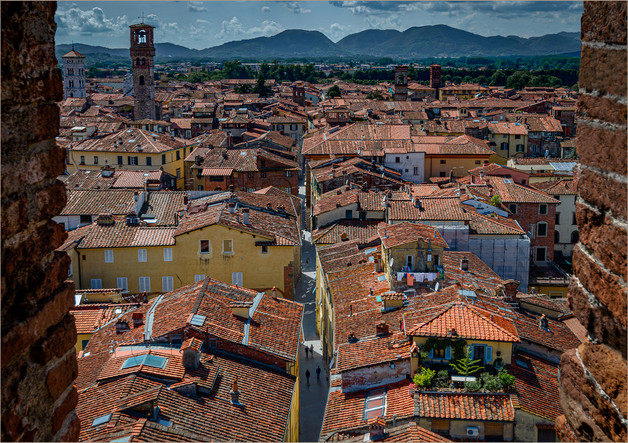 Lucca Rooftops by Christine Chittock