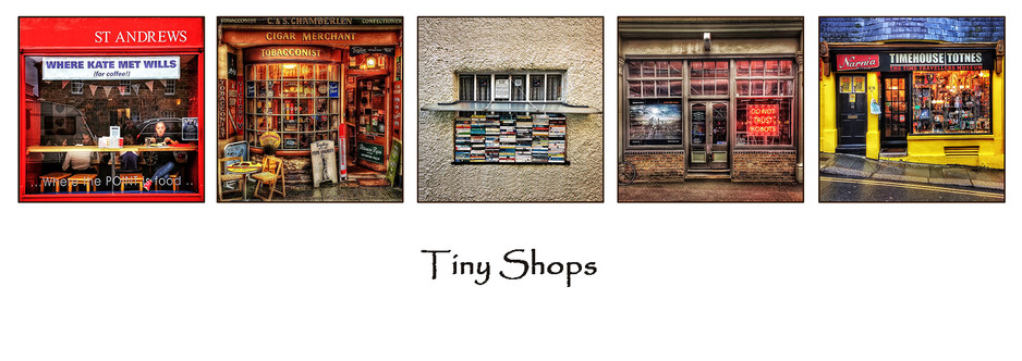 H/C Colour Print - Tiny Shops by Ian Bateman