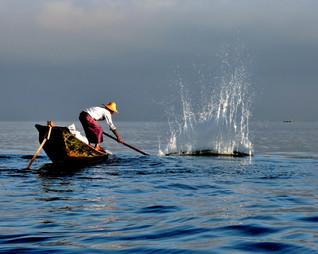 Inle Fisherman by Lynn Middleton Flynn