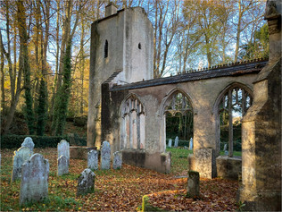Old Bicton Church by Gill Stocker
