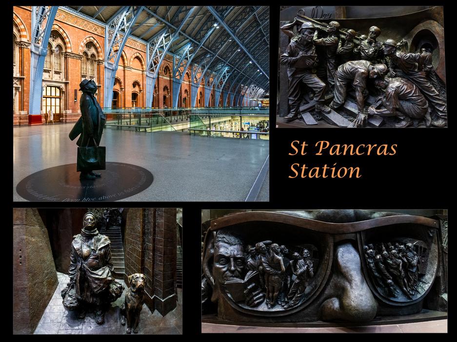 St Pancras station by Elaine Bateman