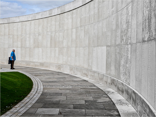 National Memorial - Reading the Name