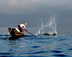 lake Inle fisherman