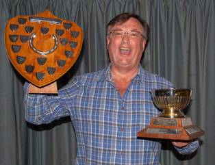Ian Bateman with EPG winning trophies