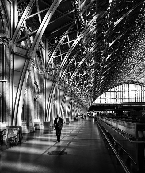 Early morning at St Pancras Station