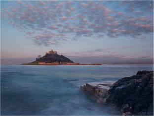 H/C Dawn at St Michaels Mount by Maurice Chittock