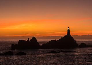 H/C Corbiere Lighthouse by Jenny Baker