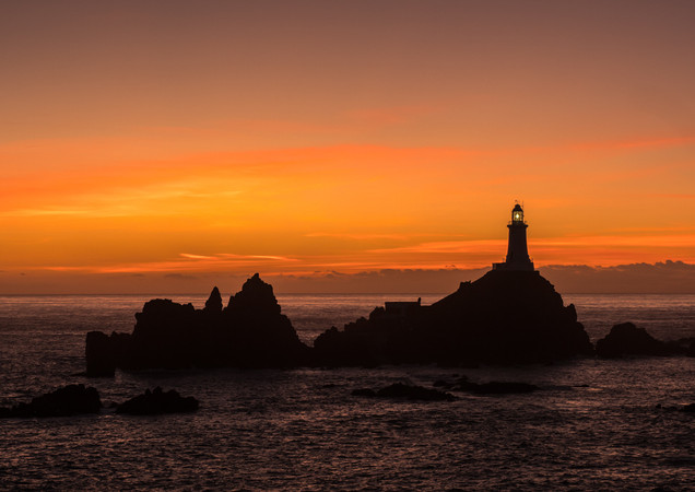 H/C Corbiere Lighthouse by Jenny Baker