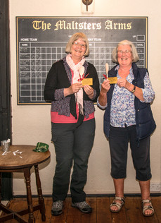 Christine & Sarah with their wooden spoons