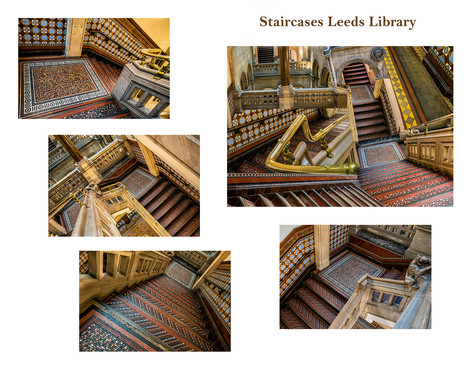 Staircases Leeds Library by Sheila Haycox