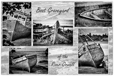 Boat Graveyard of the River Orwell