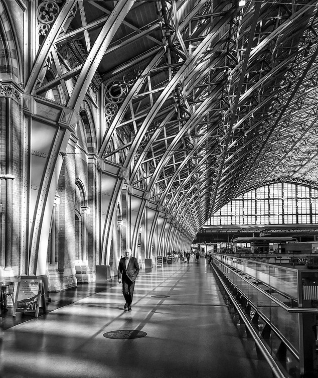 Early morning at St Pancras. by Mike Gillan