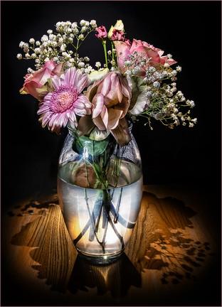 Vase with Flowers by Ian Bateman