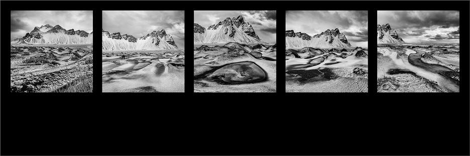 1st Mono Print - Around the Vastrahorn by Derrick Holliday