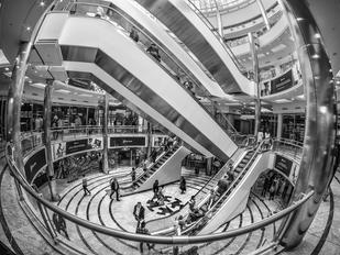 Escher at the shops by  Mike Gillan