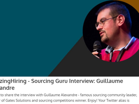 "Interview ""Sourcing Gurus"" with Amazing Hiring"