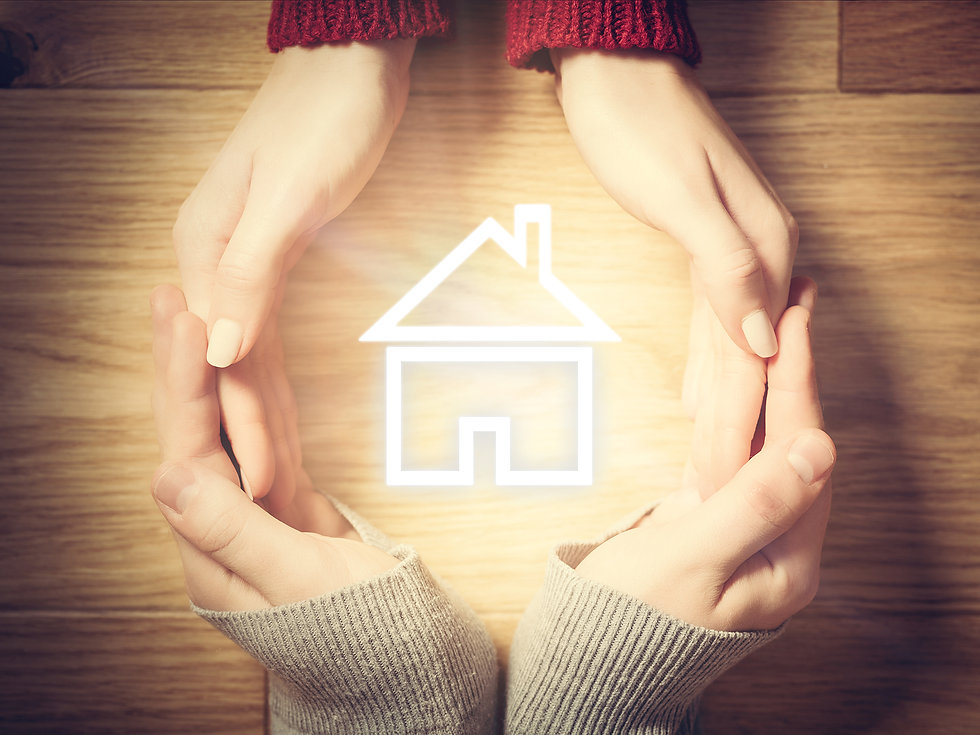 Elite Claim Solutions Hands holding a house logo