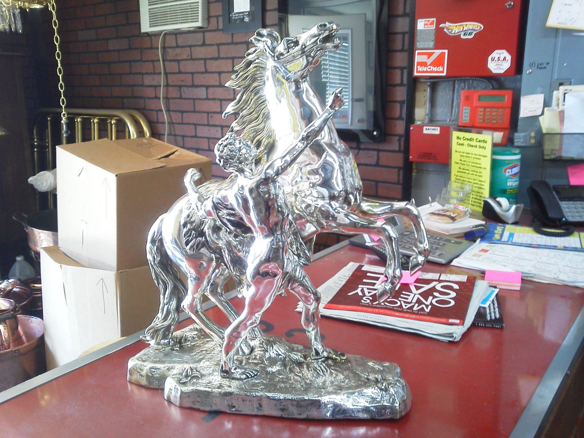Silver plated staue