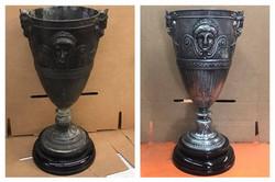 Before/after antique vase