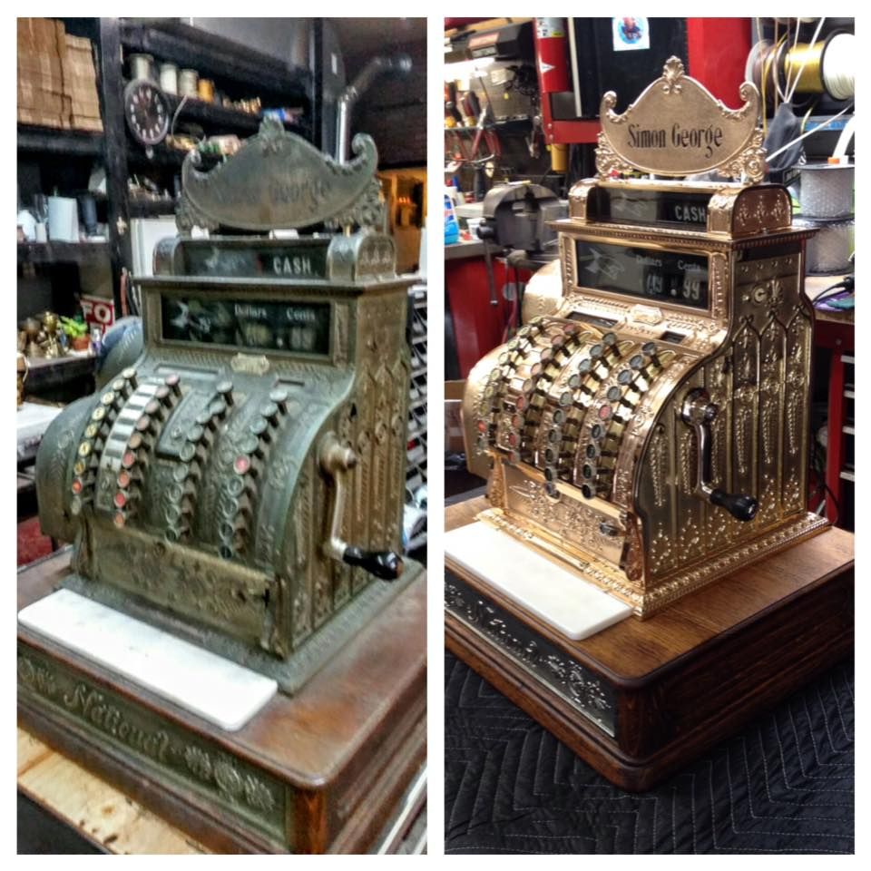 Before/after cash register