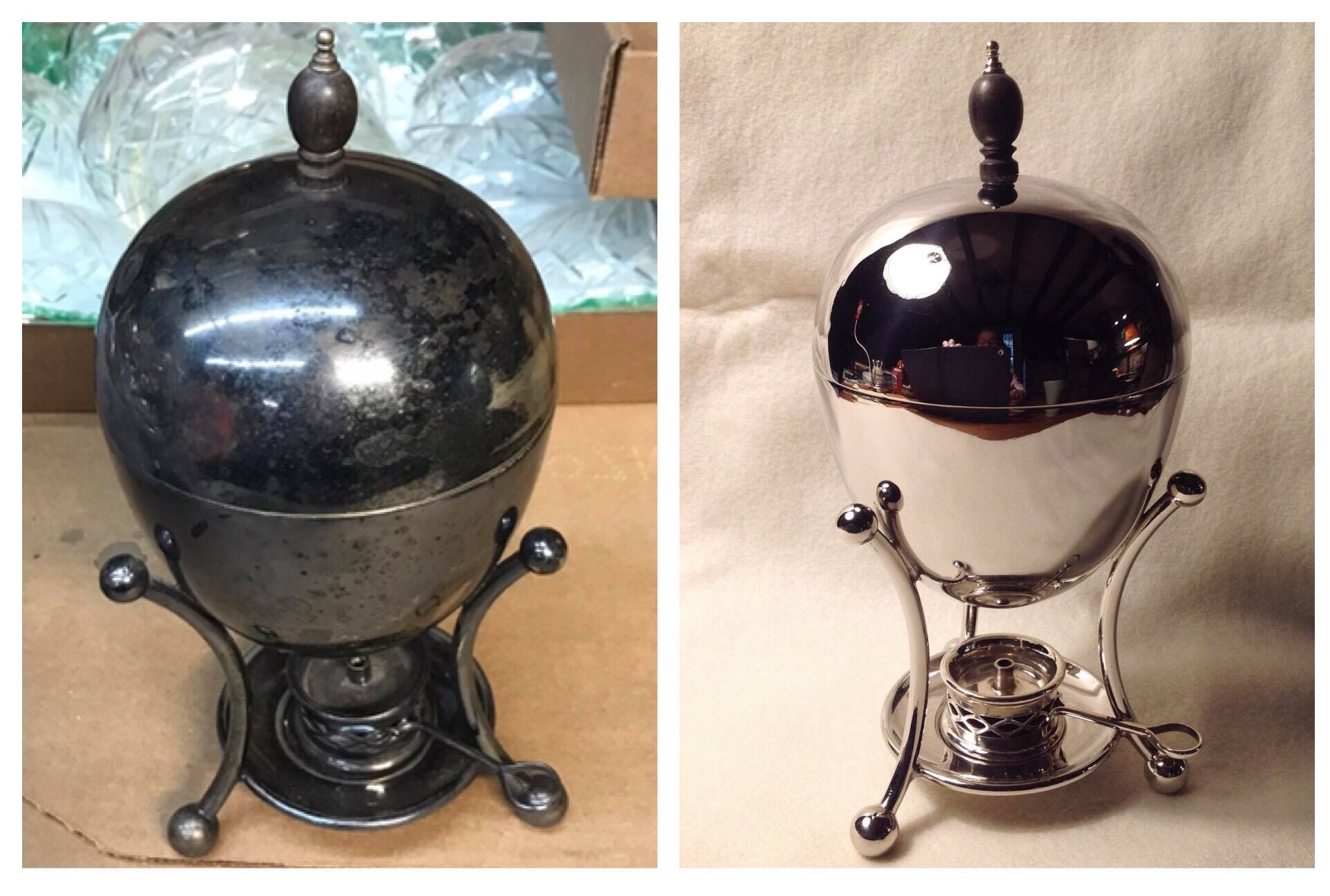 Antique egg poacher