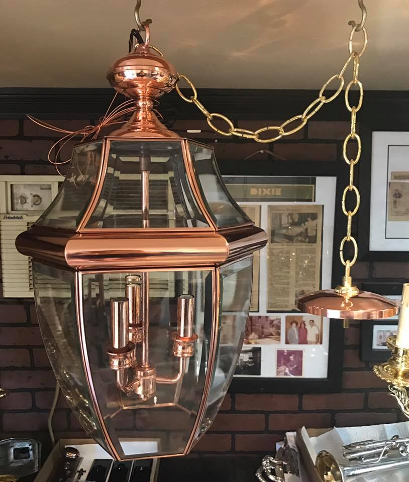 Rare solid Copper lantern