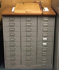Antique 30 drawer cabinet
