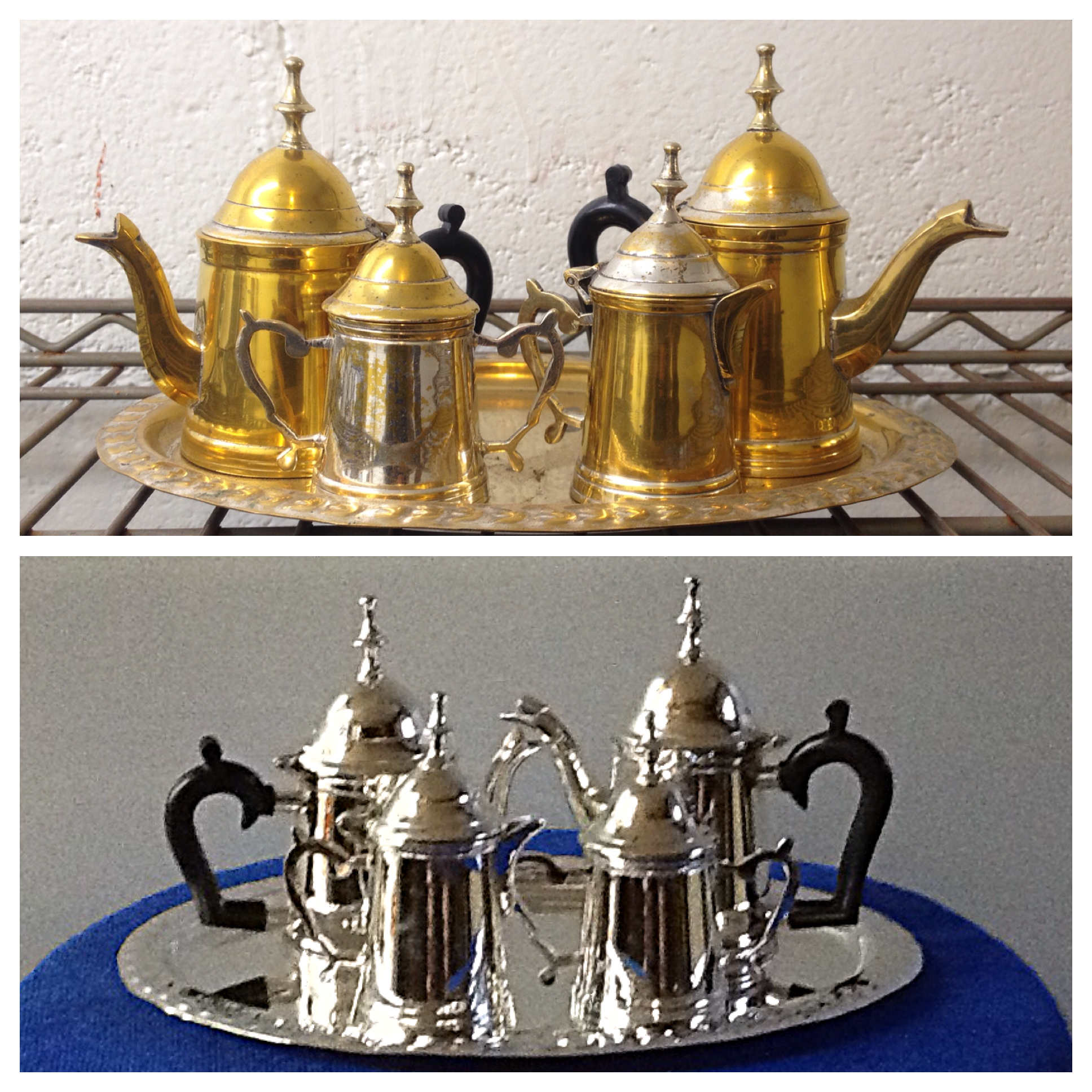 Before/after tea service set
