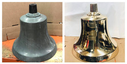 Before/after large Brass bell